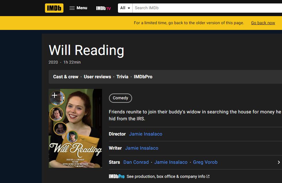 will reading imdb